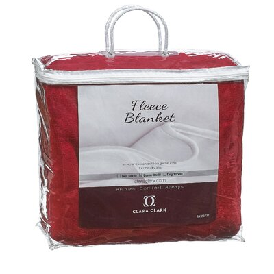 Luxury Warm Microplush Fleece Blanket Size: King, Color: Red