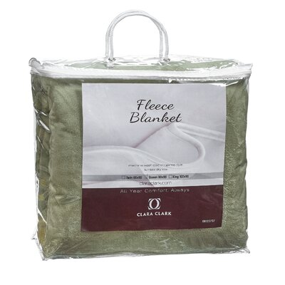Luxury Warm Microplush Fleece Blanket Size: King, Color: Sage