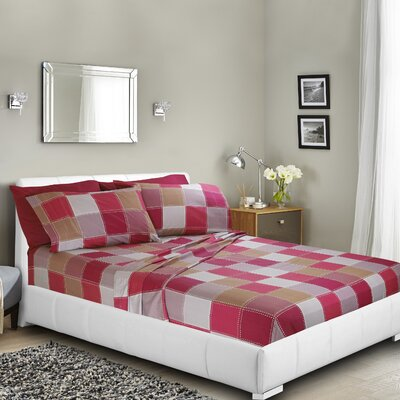 Haddenham Printed Bed Sheet Set Size: Queen