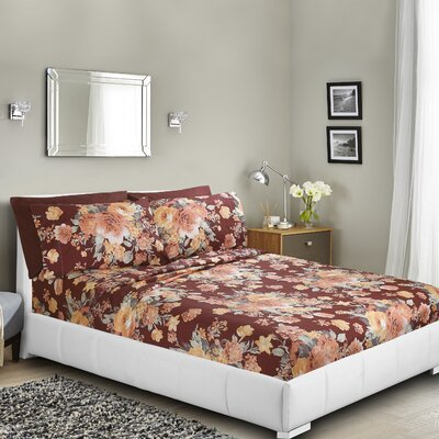 Gwinn Printed Bed Sheet Set Size: Queen
