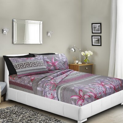 Massingill Printed Bed Sheet Set Size: King