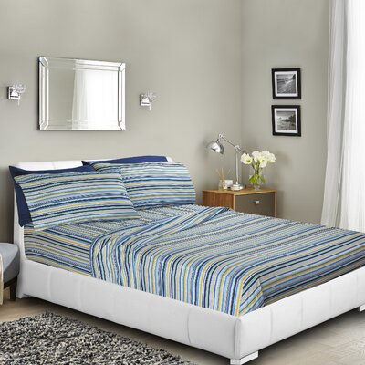 Brunelle Printed Bed Sheet Set Size: Queen