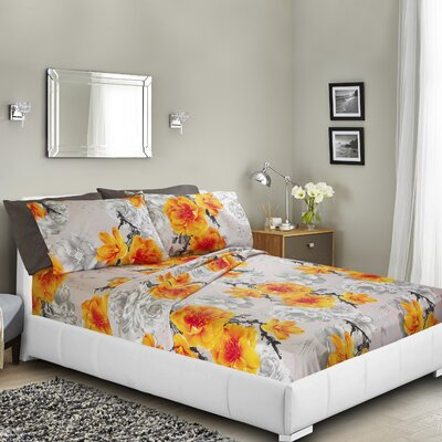 Navneet Printed Bed Sheet Set Size: Twin
