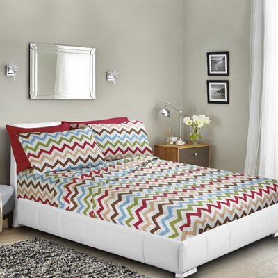 Ramjohn Printed Bed Sheet Set Size: Twin