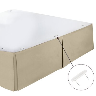 Perryville Premier Tailored 1800 Thread Count Bed Skirt Size: Queen, Color: Beige