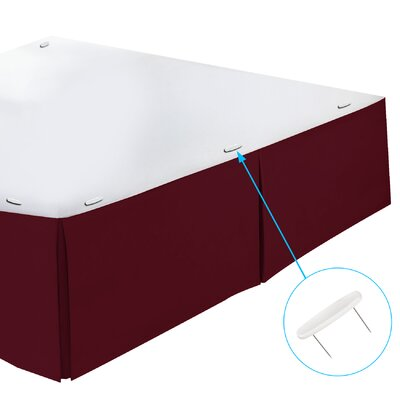 Perryville Premier Tailored 1800 Thread Count Bed Skirt Size: Twin, Color: Burgund
