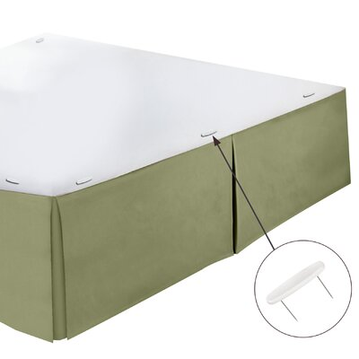 Perryville Premier Tailored 1800 Thread Count Bed Skirt Size: Twin, Color: Sage