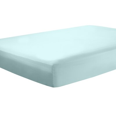 Mozelle Extra Deep Pocket Fitted Sheet Size: Queen, Color: Aqua