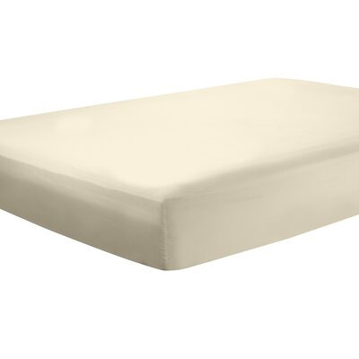 Mozelle Extra Deep Pocket Fitted Sheet Size: Queen, Color: Beige