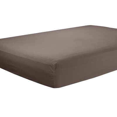 Mozelle Extra Deep Pocket Fitted Sheet Size: Queen, Color: Brown