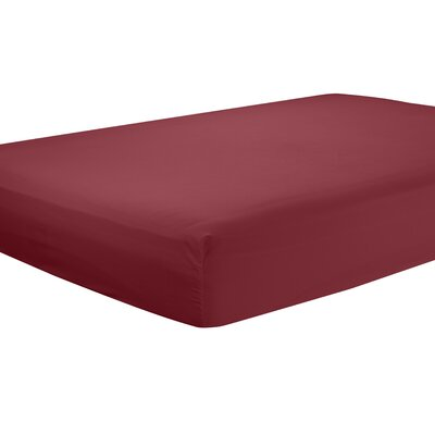 Mozelle Extra Deep Pocket Fitted Sheet Size: Twin, Color: Burgund