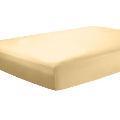 Mozelle Extra Deep Pocket Fitted Sheet Size: Queen, Color: Camel