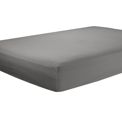 Mozelle Extra Deep Pocket Fitted Sheet Size: Full, Color: Grey