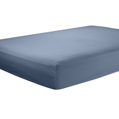 Mozelle Extra Deep Pocket Fitted Sheet Size: Twin, Color: Navy