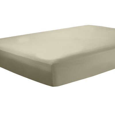 Mozelle Extra Deep Pocket Fitted Sheet Size: King, Color: Sage