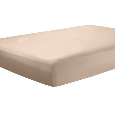 Mozelle Extra Deep Pocket Fitted Sheet Size: Full, Color: Taupe