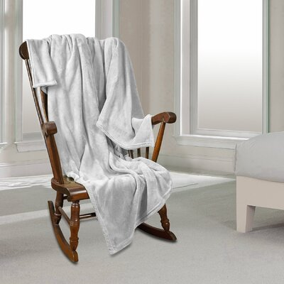 Al Ultra Cozy Warm Polar Fleece Blanket Color: White, Size: King