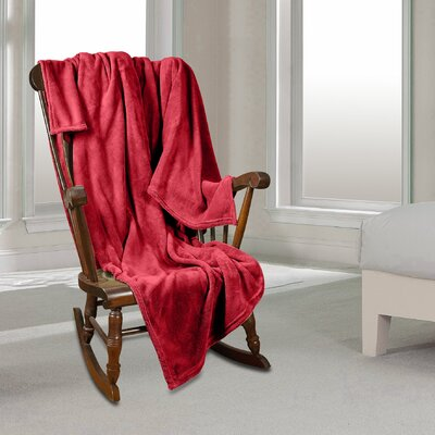 Al Ultra Cozy Warm Polar Fleece Blanket Color: Red, Size: King