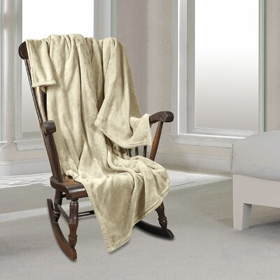 Al Ultra Cozy Warm Polar Fleece Blanket Color: Cream, Size: Twin