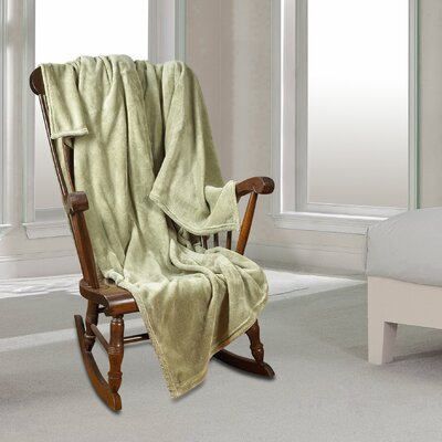 Al Ultra Cozy Warm Polar Fleece Blanket Color: Sage, Size: Qeen