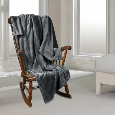 Al Ultra Cozy Warm Polar Fleece Blanket Color: Gray, Size: King