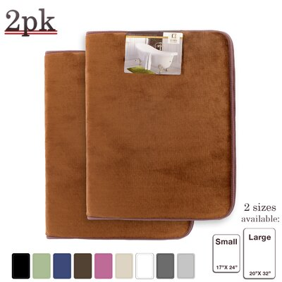 Steph Memory Foam Shower Bath Rug Size: Small, Color: Brown