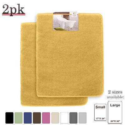 Steph Memory Foam Shower Bath Rug Size: Large, Color: Camel