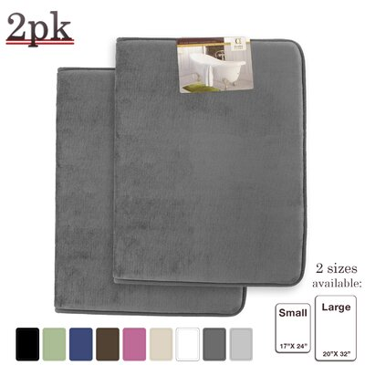 Steph Memory Foam Shower Bath Rug Size: Small/Large, Color: Gray