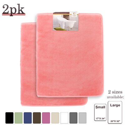 Steph Memory Foam Shower Bath Rug Size: Small/Large, Color: Pink