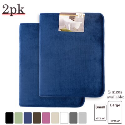 Steph Memory Foam Shower Bath Rug Size: Small/Large, Color: Royal/Blue