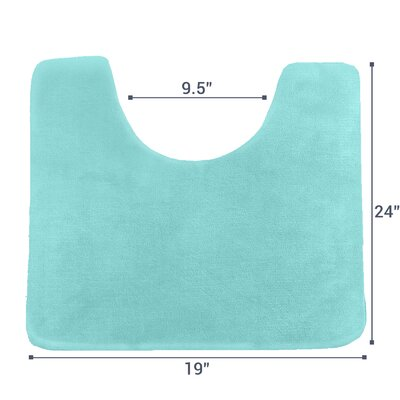 Ashland Memory Foam Contour Mat Color: Aqua Blue