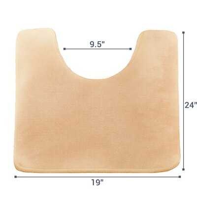 Ashland Memory Foam Contour Mat Color: Cream Beige