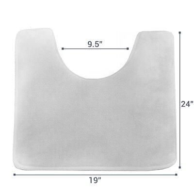 Ashland Memory Foam Contour Mat Color: Silver Grey