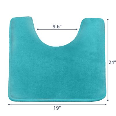Ashland Memory Foam Contour Mat Color: Teal Blue