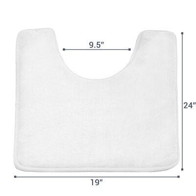Ashland Memory Foam Contour Mat Color: White