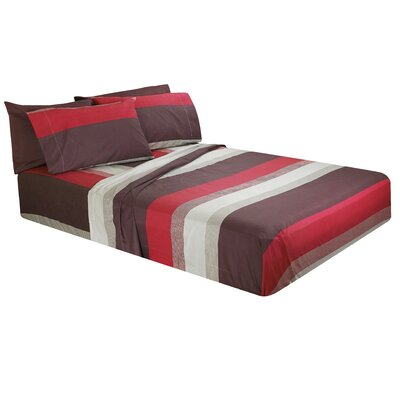 Altamirano Striped Microfiber Sheet Set Size: King