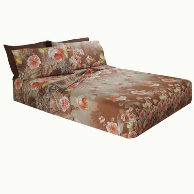 Truckee Floral Microfiber Sheet Set Size: Queen