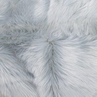 Eidson Super Soft Sheepskin Silver Area Rug