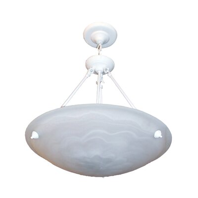 Alana 3-Light Bowl Pendant Finish: White, Size: 30 H x 20 W x 19 D