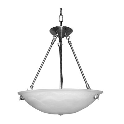 Alana 3-Light Bowl Pendant Finish: Satin Steel, Size: 30 H x 20 W x 19 D