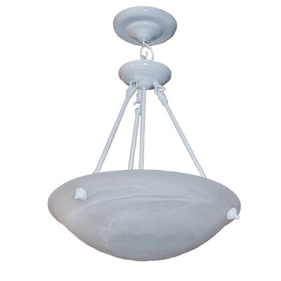 Alana 3-Light Bowl Pendant Finish: White, Size: 24 H x 16 W x 18 D