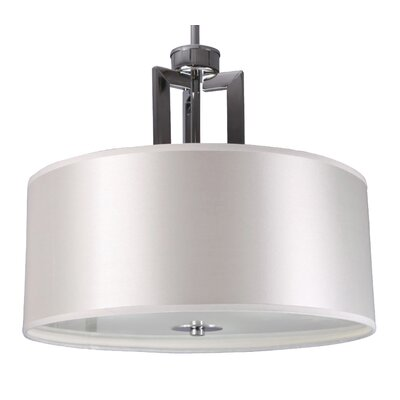 Falcon 3-Light Drum Pendant Size: 30.75 H x 16 W x 13.8 D