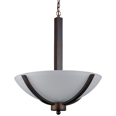Mickayla 3-Light Bowl Pendant Finish: Coffee, Size: 21 H x 16 W x 16 D