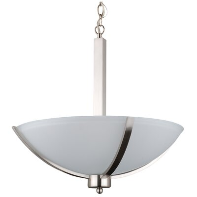 Mickayla 3-Light Bowl Pendant Finish: Satin Steel, Size: 24 H x 20 W x 18 D