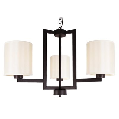 Falcon 3-Light Shaded Chandelier Finish: Ebony Bronze