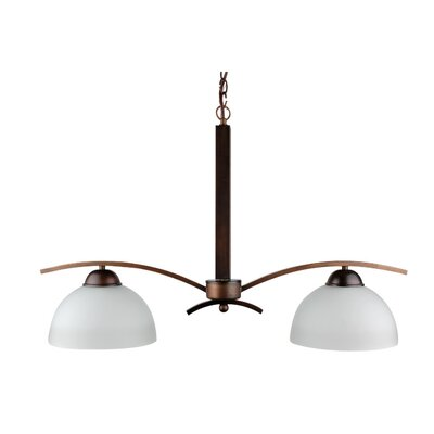 Mickayla 2-Light Kitchen Island Pendant Finish: Burnt Copper