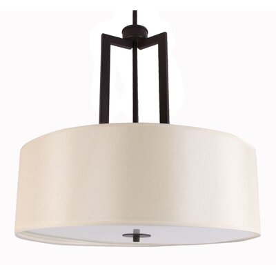 Falcon 3-Light Drum Pendant Finish: Ebony Bronze, Size: 46.25 H x 20 W x 19.3 D