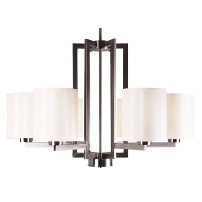 Falcon 6-Light Candle-Style Chandelier Finish: Satin Steel