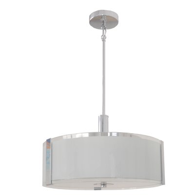 Perkinson 3-Light LED Drum Pendant Size: 10 H x 16 W x 16 D