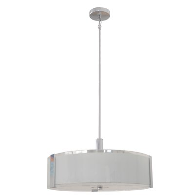 Perkinson 3-Light LED Drum Pendant Size: 13 H x 20 W x 20 D